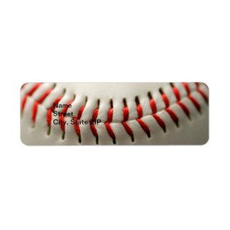 Ascendente cercano del béisbol etiquetas de remite