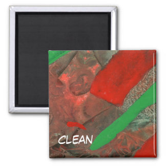 """Ascenders"" Abstract Dishwasher Status Magnet"