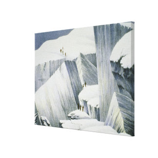 Ascending a Cliff, from 'A Narrative of an Ascent Gallery Wrap Canvas