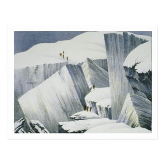Ascending a Cliff, from 'A Narrative of an Ascent Postcard