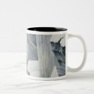 Ascending a Cliff, from 'A Narrative of an Ascent Two-Tone Coffee Mug