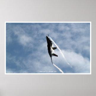 Ascending F-18 Hornet Jet-Fighter Poster