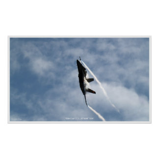 Ascending F-18 Hornet Jet-Fighter Poster Print
