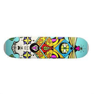 ascending skull skateboard deck