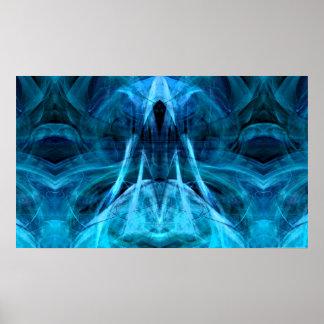 Ascending Spirit Aqua Print
