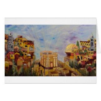 Ascending to Jerusalem Greeting Cards