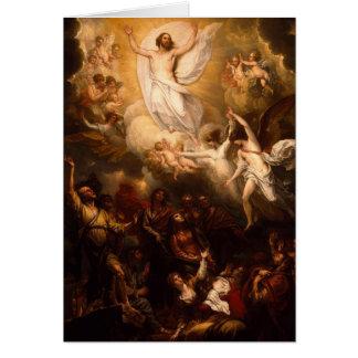 Ascensión de Cristo con ángeles Tarjeta De Felicitación