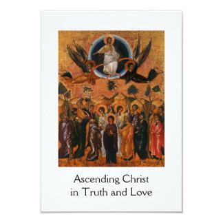 """Ascensión de Cristo en verdad y amor Invitación 3.5"""" X 5"""""""