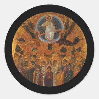 Ascensión de Cristo en verdad y amor Pegatina Redonda