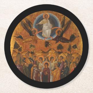 Ascensión de Cristo en verdad y amor Posavasos De Cartón Redondo