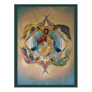 Ascensión de la tarjeta del rezo de Cristo Tarjetas Postales