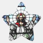 Ascensión del vitral de Jesús Pegatina