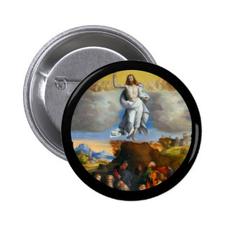 Ascension in Golden Clouds Pinback Button