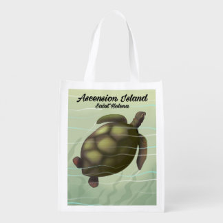 Ascension Island Sea Turtle Reusable Grocery Bag