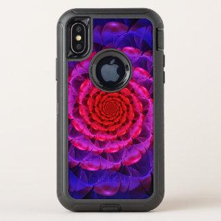 Ascension of a Vermilion Rose Fractal Spiral Bloom OtterBox Defender iPhone X Case