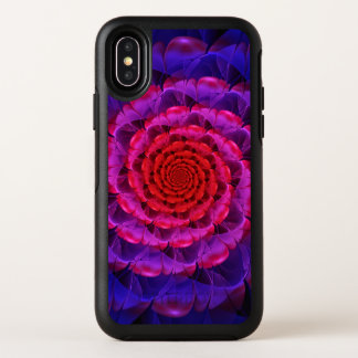 Ascension of a Vermilion Rose Fractal Spiral Bloom OtterBox Symmetry iPhone X Case