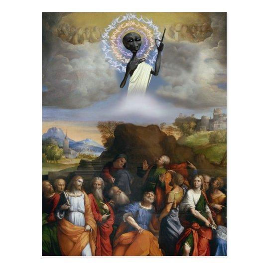 Ascension of Alien Jesus Postcard