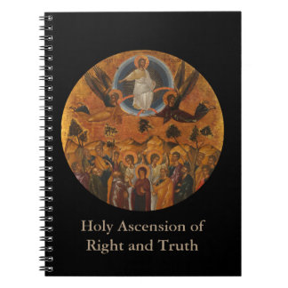 Ascension of Christ in Truth and Love Spiral Notebook