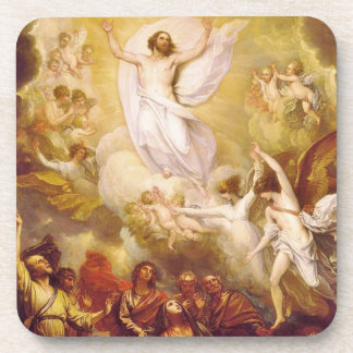 Ascension of Christ with Angels Beverage Coaster