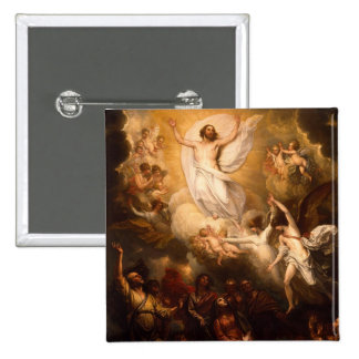 Ascension of Christ with Angels Button
