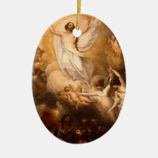 Ascension of Christ with Angels Ceramic Ornament