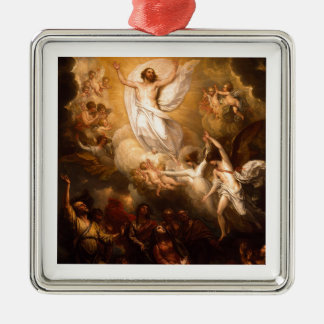 Ascension of Christ with Angels Metal Ornament