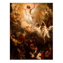 Ascension of Christ with Angels Postcard