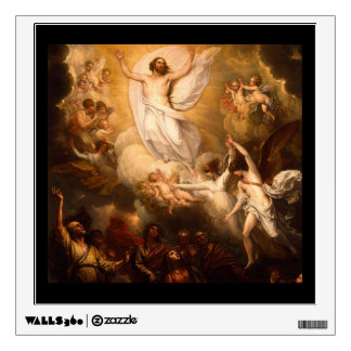 Ascension of Christ with Angels Wall Sticker