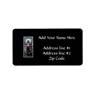 Ascension of Jesus stained glass window Address Label