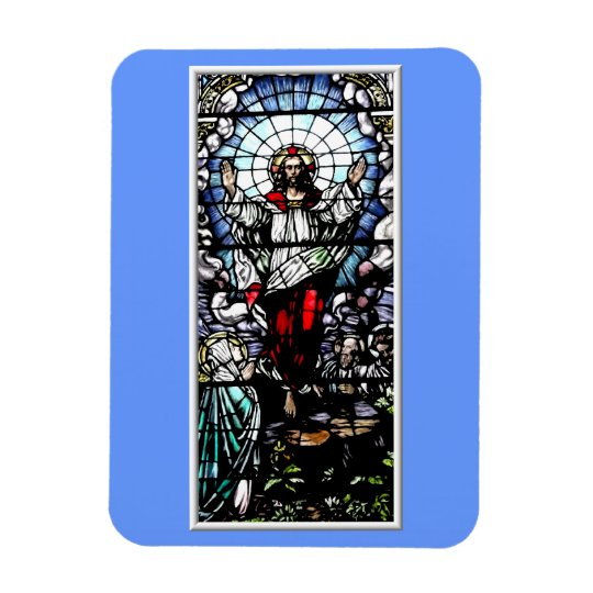 Ascension of Jesus stained glass window Magnet