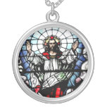 Ascension of Jesus stained glass window Necklace