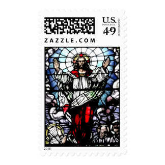 Ascension of Jesus stained glass window Postage