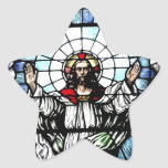 Ascension of Jesus stained glass window Stickers