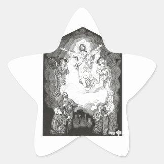 Ascensión Pegatina En Forma De Estrella