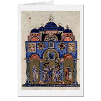 Ascensión por el amo de los sermones del monje tarjetón