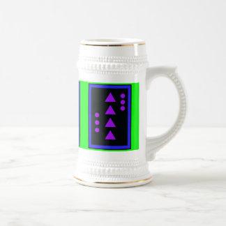 Ascensión violeta Stein de los triángulos Taza