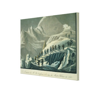 Ascent of Mr. De Saussure to the Summmit of Mont B Gallery Wrapped Canvas