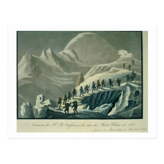 Ascent of Mr. De Saussure to the Summmit of Mont B Postcard