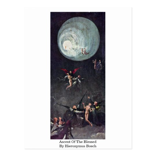 Ascent Of The Blessed. By Hieronymus Bosch Postcard