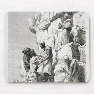 Ascent of the Great Pyramid 19th century Mousepad
