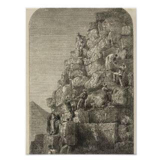 Ascent of the Great Pyramid Print