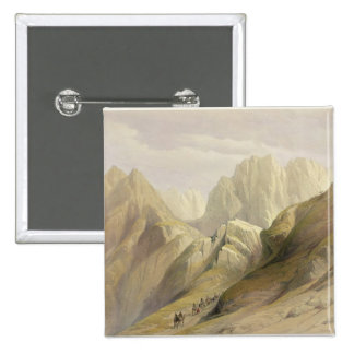 Ascent of the Lower Range of Sinai, February 18th Pinback Button
