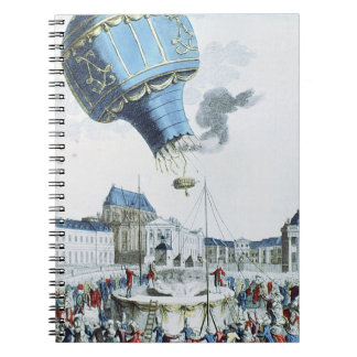 Ascent of the Montgolfier brothers hot-air balloon Notebook