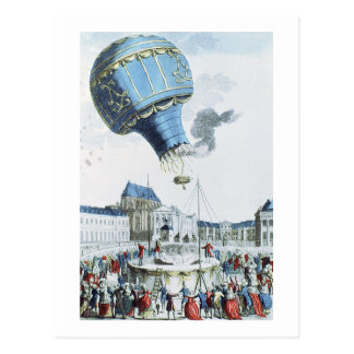 Ascent of the Montgolfier brothers hot-air balloon Postcard