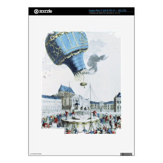 Ascent of the Montgolfier brothers hot-air balloon Skin For iPad 3