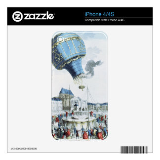 Ascent of the Montgolfier brothers hot-air balloon Skin For The iPhone 4