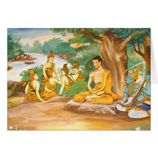 Ascetic Bodhisatta Gotama with the Group of Five Card