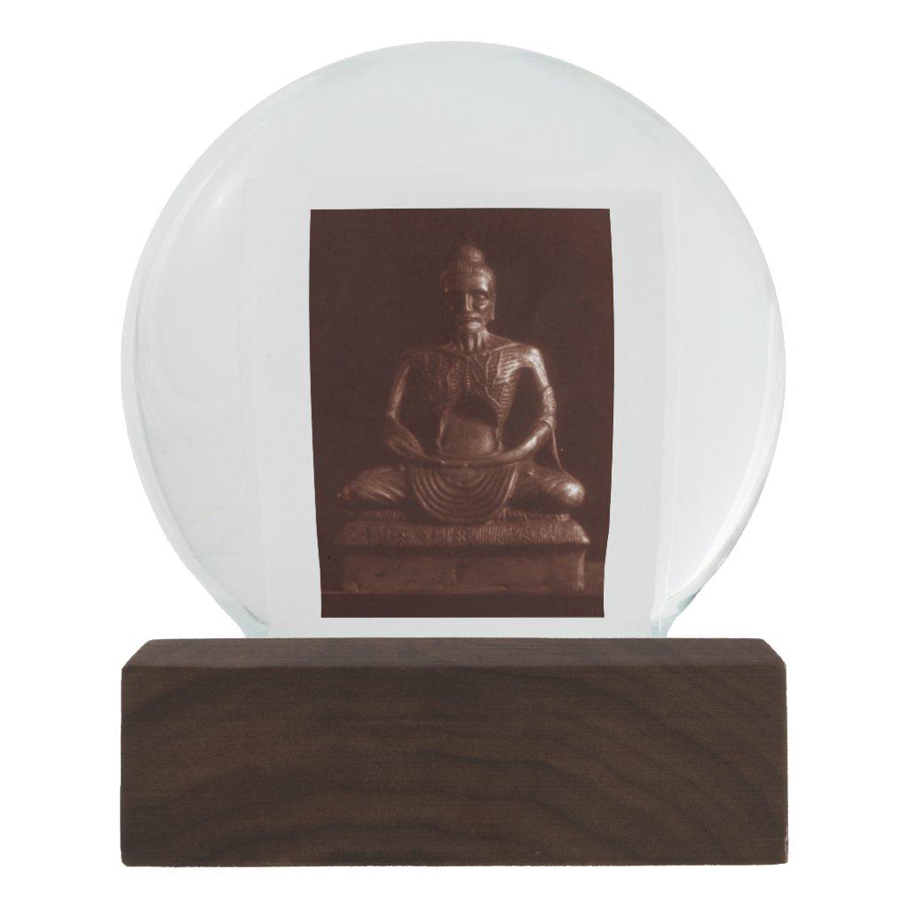 Ascetic Buddha Prayer-Caster Snow Globe