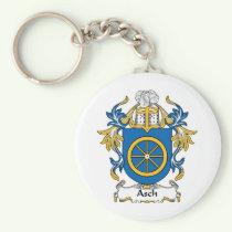 Asch Family Crest Keychain