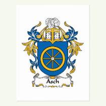 Asch Family Crest Postcard